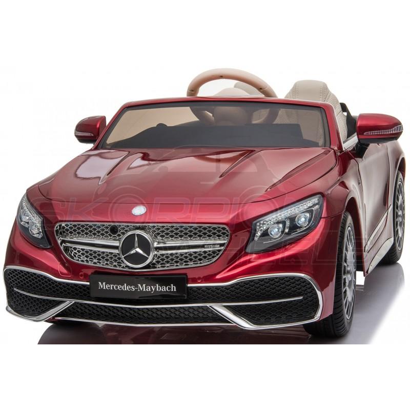 ScorpionWheels Ηλεκτροκίνητο παιδικό αυτοκίνητο Licenced Mercedes S650 12v με τηλεκοντρόλ Μπορντό 5246065