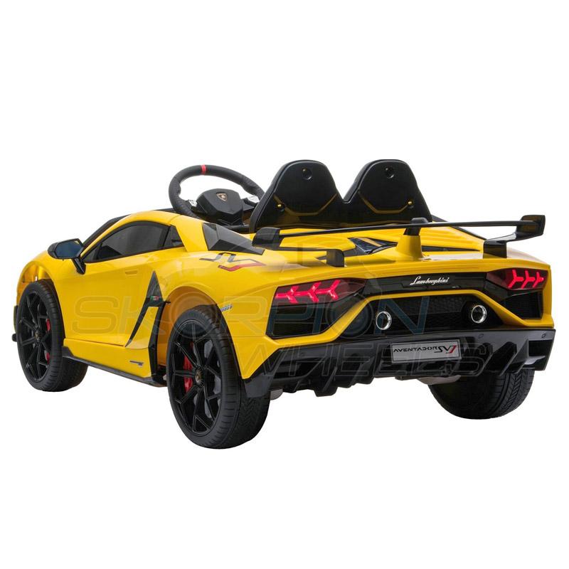 ScorpionWheels Ηλεκτροκίνητο παιδικό αυτοκίνητο Licenced Lamborghini  Avendor 12v με τηλεκοντρόλ Κίτρινο 52460671