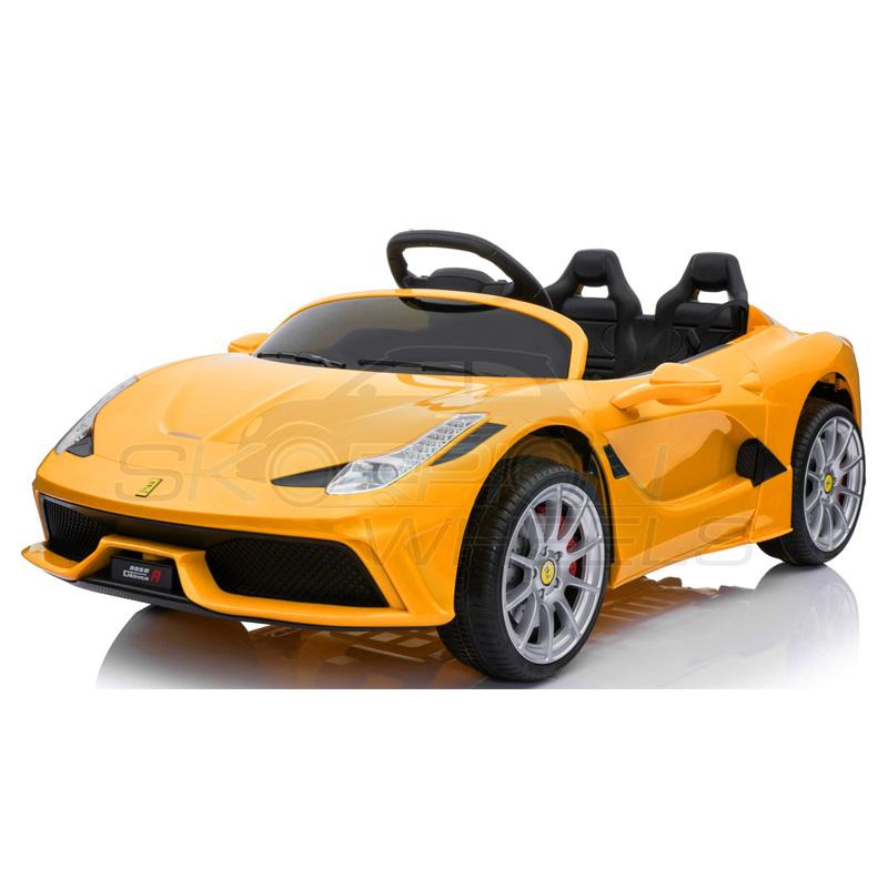 ScorpionWheels Ηλεκτροκίνητο παιδικό αυτοκίνητο τύπου Ferrari 12v Κίτρινο με τηλεκοντρόλ 5246088