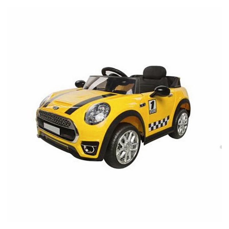 ScorpionWheels Ηλεκτροκίνητο παιδικό αυτοκίνητο τύπου Mini Cooper 12v με τηλεκοντρόλ κίτρινο 5246098