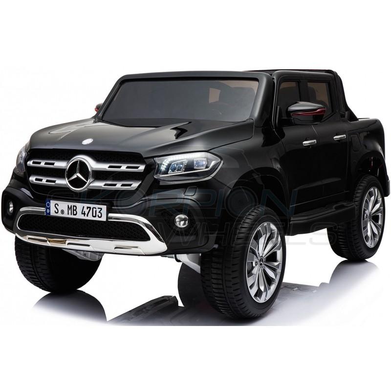 ScorpionWheels Ηλεκτροκίνητο παιδικό αυτοκίνητο Licenced Mercedes 12v  με τηλ/τρόλ και Οθόνη Μαύρο 52470101