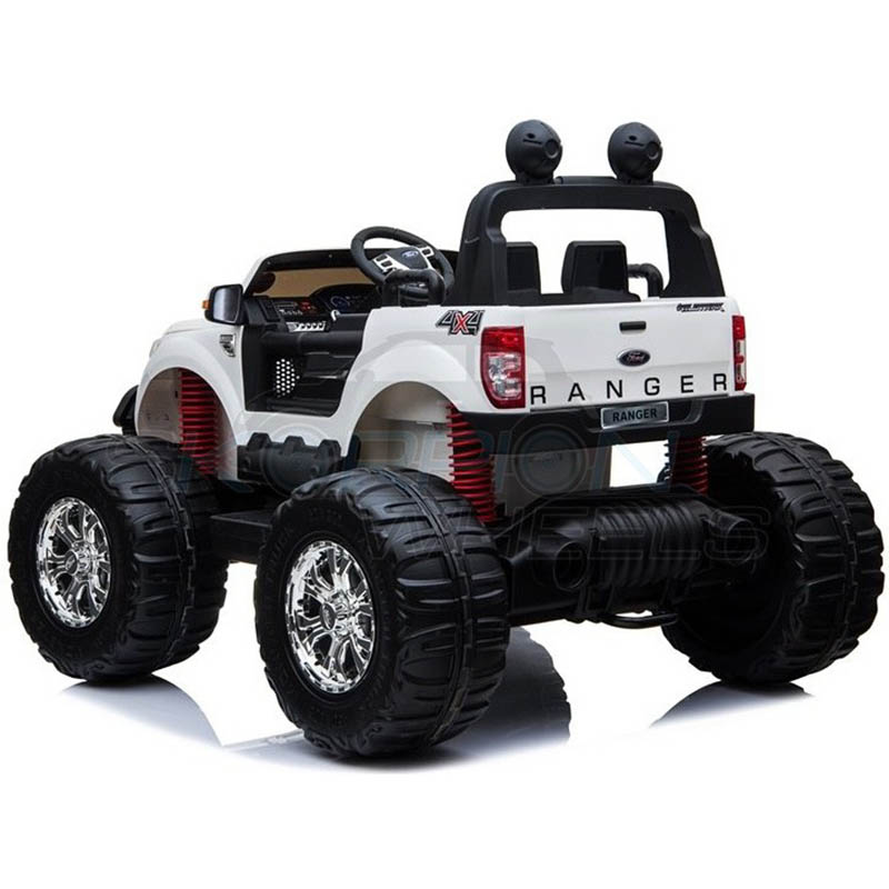 ScorpionWheels Ηλεκτροκίνητο διθέσιο παιδικό αυτοκίνητο Licenced Ford Ranger Monster 12v με τηλ/τρόλ Λευκό 5247050