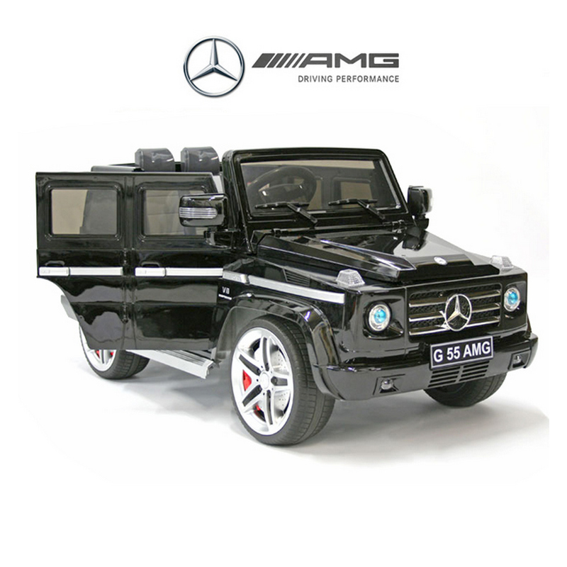 ScorpionWheels Ηλεκτροκίνητο παιδικό αυτοκίνητο Licenced Mercedes G55 AMG 12v με τηλεκοντρόλ Ασημί 5247055