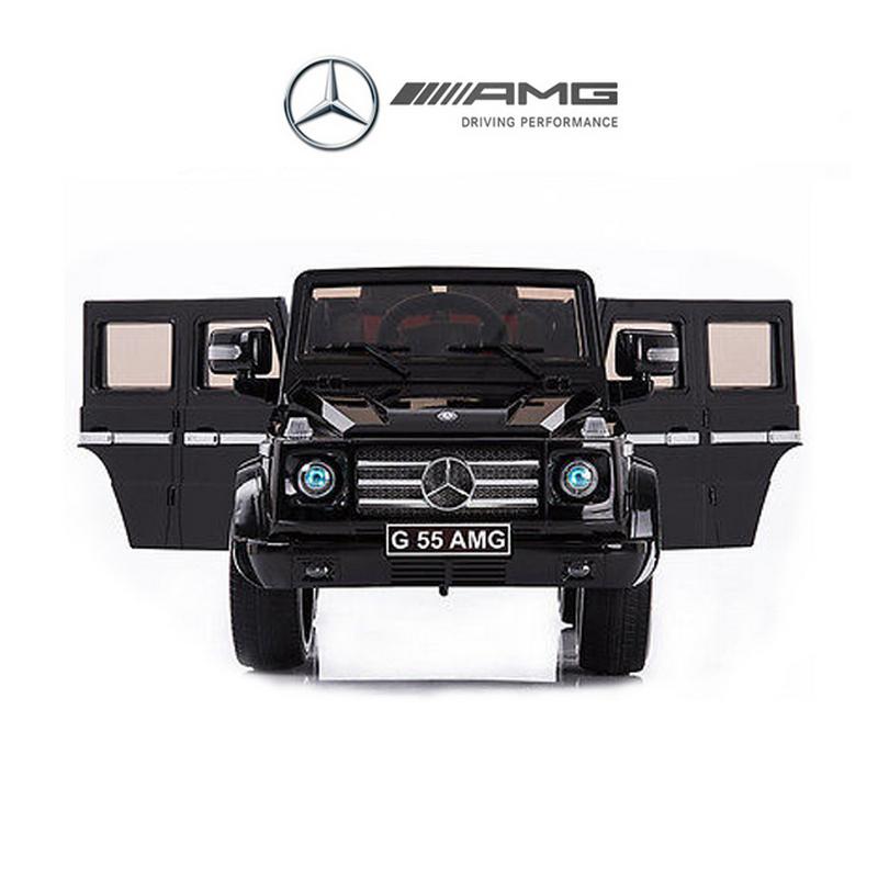 ScorpionWheels Ηλεκτροκίνητο παιδικό αυτοκίνητο Licenced Mercedes G55 AMG 12v με τηλεκοντρόλ Μπορντό 5247055
