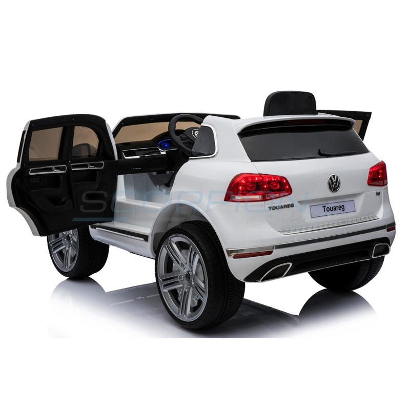 ScorpionWheels Ηλεκτροκίνητο παιδικό αυτοκίνητο Licenced Volkswagen Tuareg12v με τηλεκοντρόλ  Λευκό 5247066