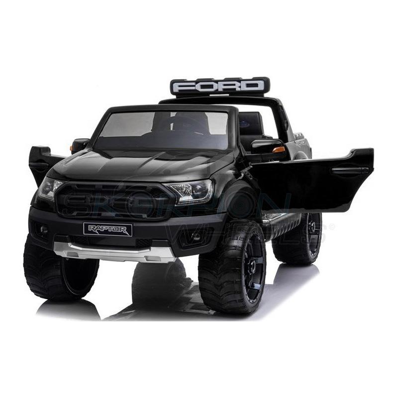 ScorpionWheels Ηλεκτροκίνητο διθέσιο παιδικό αυτοκίνητο Licenced Ford Raptor II 12v με τηλ/τρόλ Μαύρο 52470831