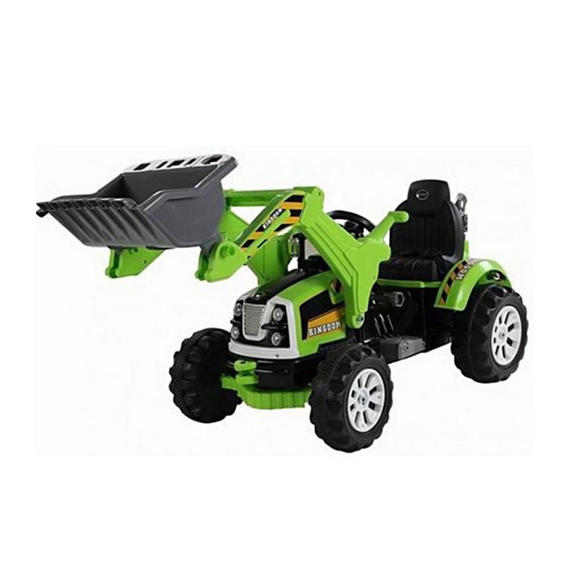 ScorpionWheels Ηλεκτροκίνητο παιδικό Τρακτέρ / Μπουλντόζα  πράσινη 12V 5248023