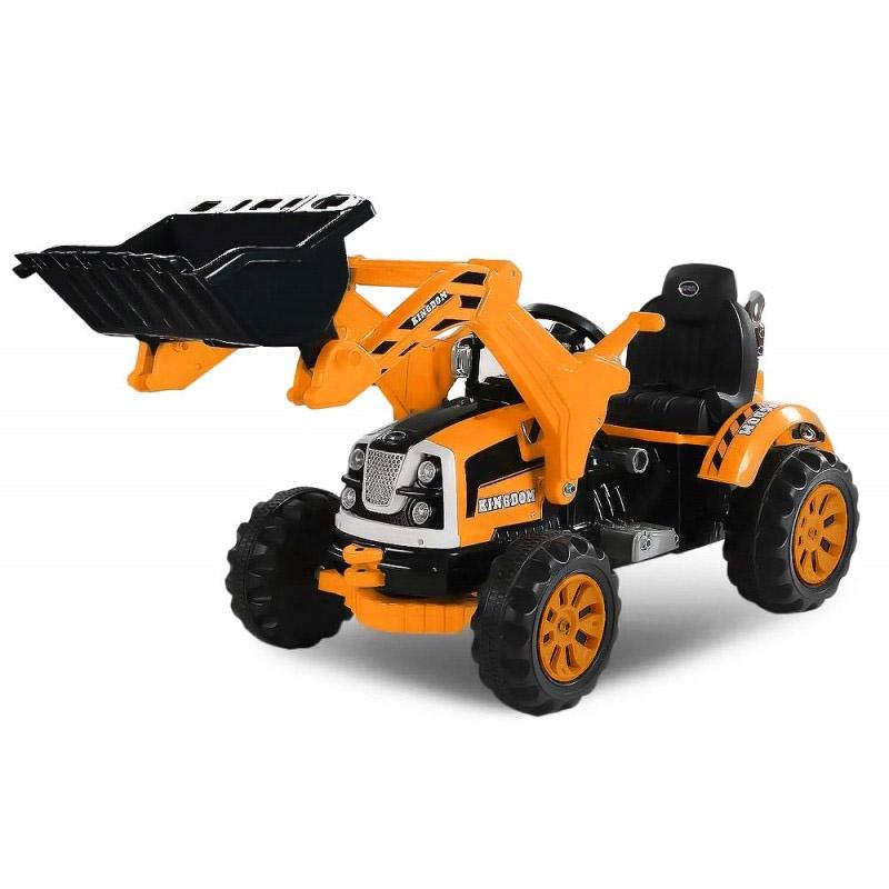 ScorpionWheels Ηλεκτροκίνητο παιδικό Τρακτέρ / Μπουλντόζα πορτοκαλή 12V 5248023
