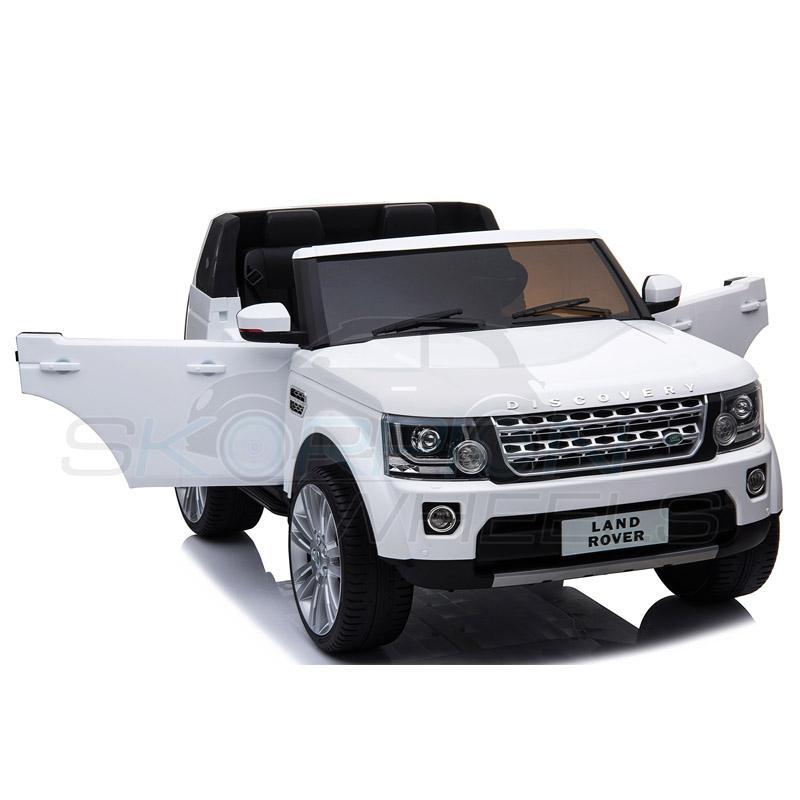 ScorpionWheels Ηλεκτροκίνητο διθέσιο παιδικό αυτοκίνητο Licenced Land Rover Discovery 12v με τηλ/τρόλ Λευκό 5248091