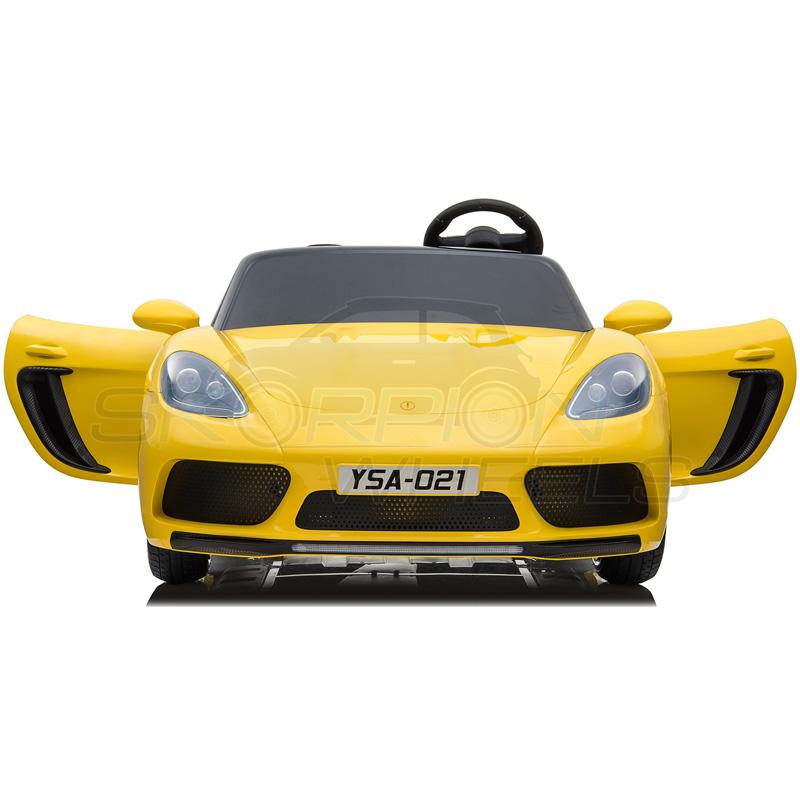SkorpionWheels Ηλεκτροκίνητο παιδικό αυτοκίνητο τύπου Porsche 24v κίτρινο 5249024