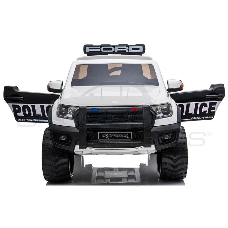 ScorpionWheels Ηλεκτροκίνητο διθέσιο παιδικό αυτοκίνητο Licenced Ford Raptor II Police 12v με τηλ/τρόλ Λευκό 5247082