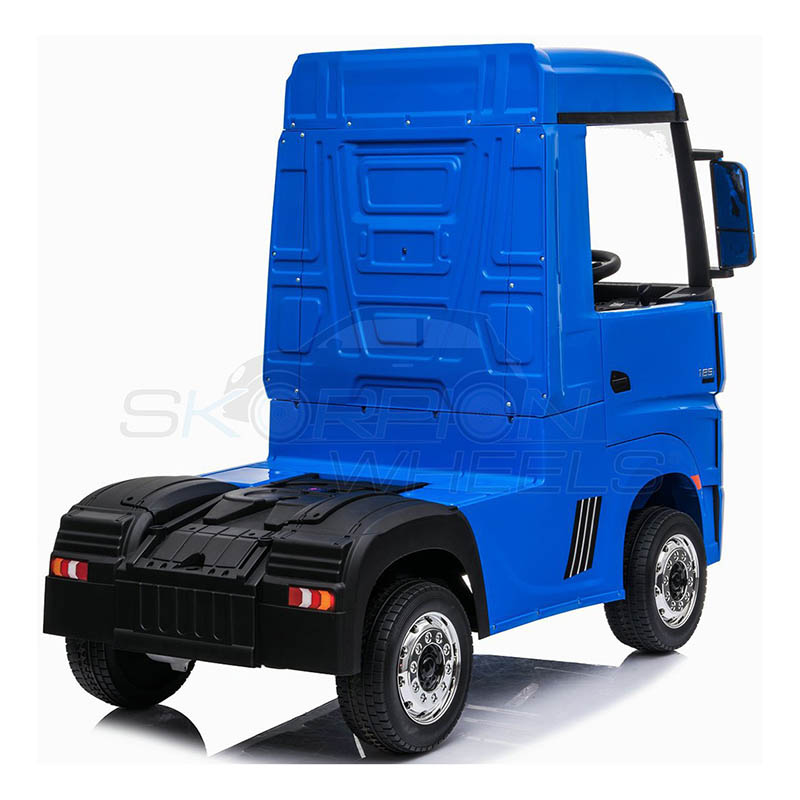 ScorpionWheels Ηλεκτροκίνητη Νταλίκα Mercedes Benz Actros Licenced  Μπλε 12v  με τηλ/τρόλ 5249058