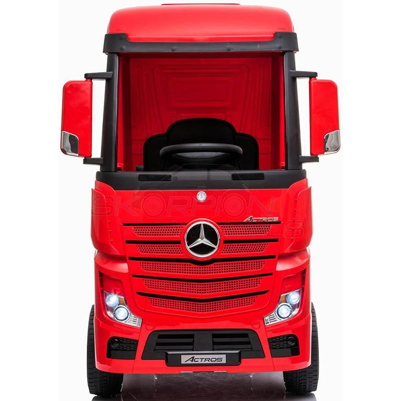 ScorpionWheels Ηλεκτροκίνητη Νταλίκα Mercedes Benz Actros Licenced  Κόκκινη 12v  με τηλ/τρόλ 5249058