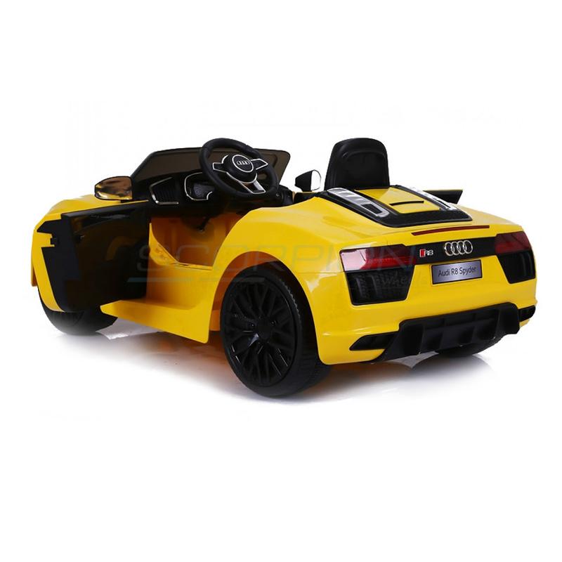 ScorpionWheels Ηλεκτροκίνητο παιδικό αυτοκίνητο Audi R8 Spyder Licenced 12v με τηλεκοντρόλ Κίτρινο 5246031