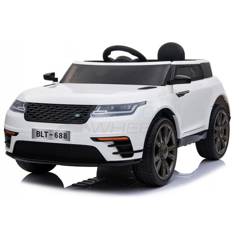 SkorpionWheels Ηλεκτροκίνητο παιδικό αυτοκίνητο τύπου Range Rover 12v με τηλ/ρόλ και οθόνη video Λευκό 5246054