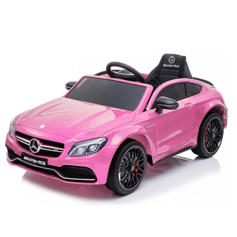 ScorpionWheels Ηλεκτροκίνητο παιδικό αυτοκίνητο Licenced Mercedes Benz 12v με τηλ/ρόλ Ροζ  5246063