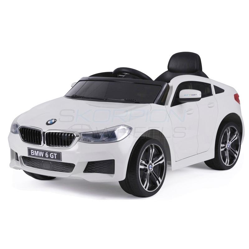 SkorpionWheels Ηλεκτροκίνητο παιδικό αυτοκίνητο τύπου BMW 6 GT 12v με τηλεκοντρόλ λευκό 5246064
