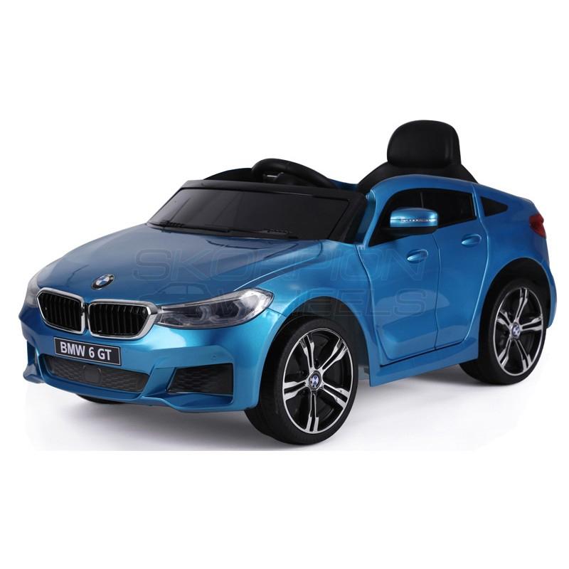SkorpionWheels Ηλεκτροκίνητο παιδικό αυτοκίνητο τύπου BMW 6 GT 12v με τηλεκοντρόλ μπλε 5246064