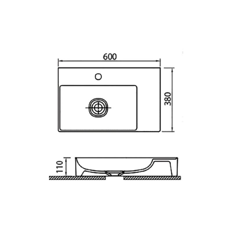 Νιπτήρας Κρεμαστός 60x38 KARAG INFINITY 6160