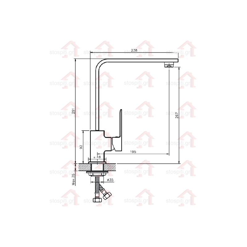 Μπαταρία κουζίνας  KLS Ria 699019
