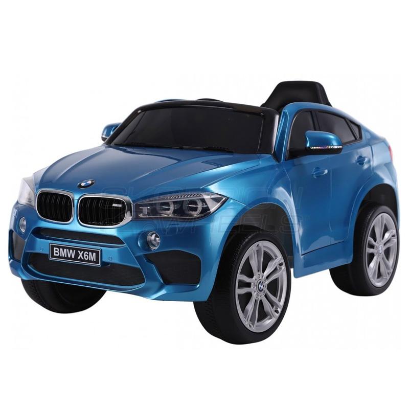 ScorpionWheels Ηλεκτροκίνητο παιδικό αυτοκίνητο Licenced BMW X6 Δερμάτινο κάθισμα 12v με τηλεκοντρόλ Μπλε  5247056