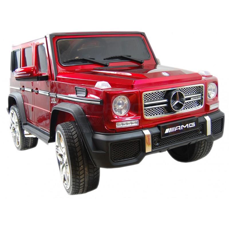 SkorpionWheels Ηλεκτροκίνητο παιδικό αυτοκίνητο Licenced Mercedes G55 AMG 12v με τηλεκοντρόλ Κόκκινο 5247065