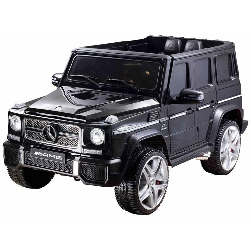 SkorpionWheels Ηλεκτροκίνητο παιδικό αυτοκίνητο Licenced Mercedes G55 AMG 12v με τηλεκοντρόλ Μαύρο 5247065