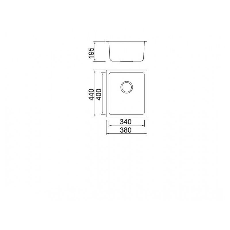 Νεροχύτης υποκαθήμενος Inox KARAG BL 792 38Χ44