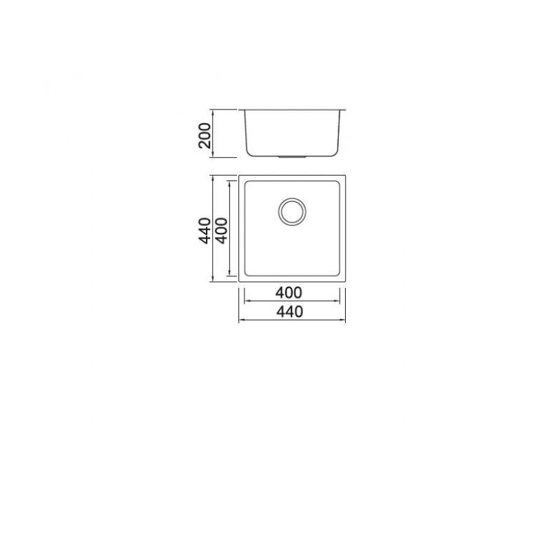 Νεροχύτης υποκαθήμενος Inox KARAG BL 793 44Χ44