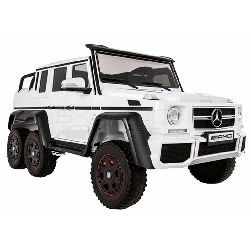 SkorpionWheels Ηλεκτρ/το παιδικό αυτοκίνητο Licenced Mercedes Benz AMG G63 4X4 12v με τηλ/ρόλ Λευκό 5248066