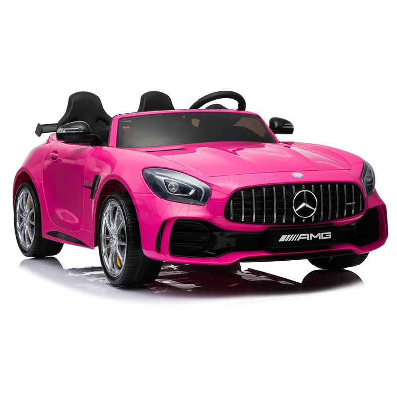 SkorpionWheels Ηλεκτροκίνητο παιδικό αυτοκίνητο Licenced Mercedes Benz GTR 12v με τηλ/ρόλ Ροζ 5248098