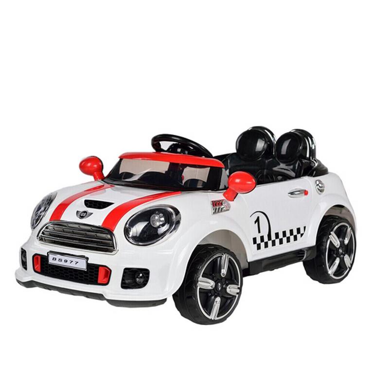Ηλεκτροκίνητο παιδικό αυτοκίνητο τύπου MINI  COOPER Λευκό 12V με τηλεκοντρόλ  JD-9999X
