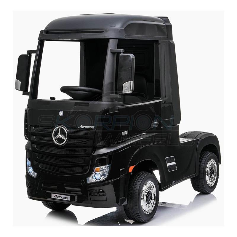 ScorpionWheels Ηλεκτροκίνητη Νταλίκα Mercedes Benz Actros Licenced  Μαύρη 12v  με τηλ/τρόλ 5249058