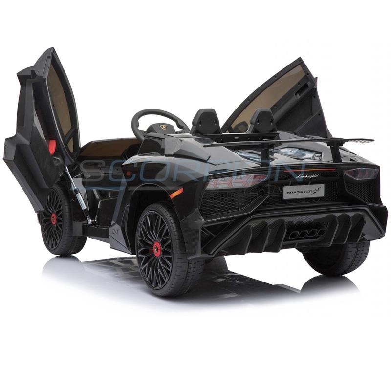 ScorpionWheels Ηλεκτροκίνητο παιδικό αυτοκίνητο Licenced Lamborghini 12v με τηλεκοντρόλ Μαύρο 5246033