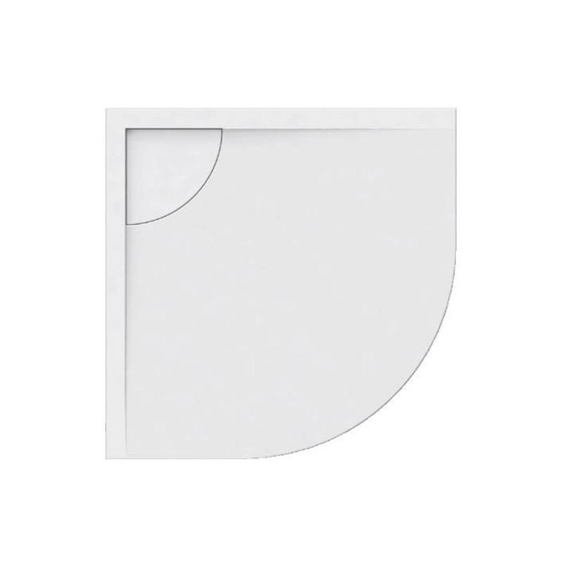 Ντουζιέρα Ακρυλική ημικυκλική Karag Element 2 90x90x5cm με Inox Κάλυμμα Βαλβίδας