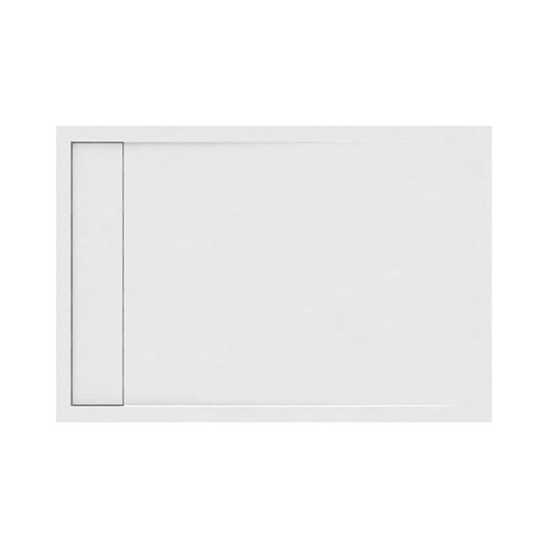 Ντουζιέρα Ακρυλική ορθογώνια Karag Element 3 80x120x5cm με Inox Κάλυμμα Βαλβίδας