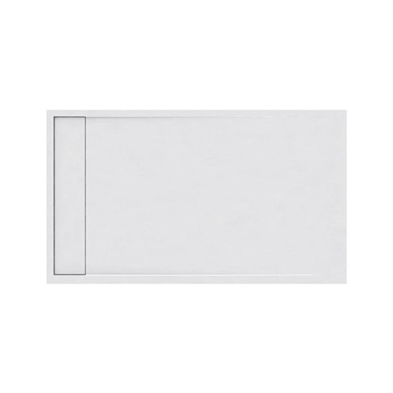 Ντουζιέρα Ακρυλική ορθογώνια Karag Element 4 80x140x5cm με Inox Κάλυμμα Βαλβίδας