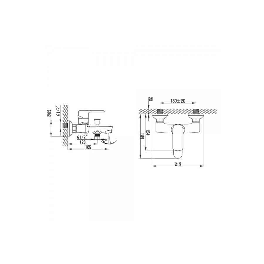 Μπαταρία λουτρού Praxis Pearl VQ23283C
