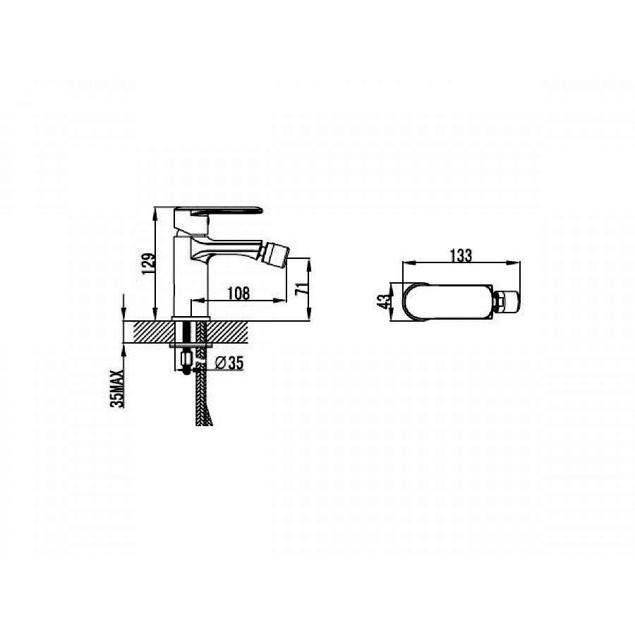 Μπαταρία μπιντέ Praxis Pearl ZQ46328