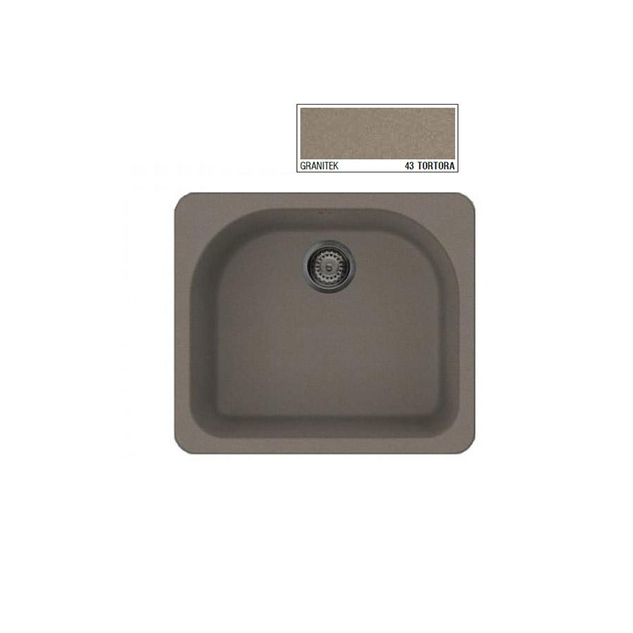 Νεροχύτης Γρανίτη ELLECI FOX 250 60x52 Granitek Tortora