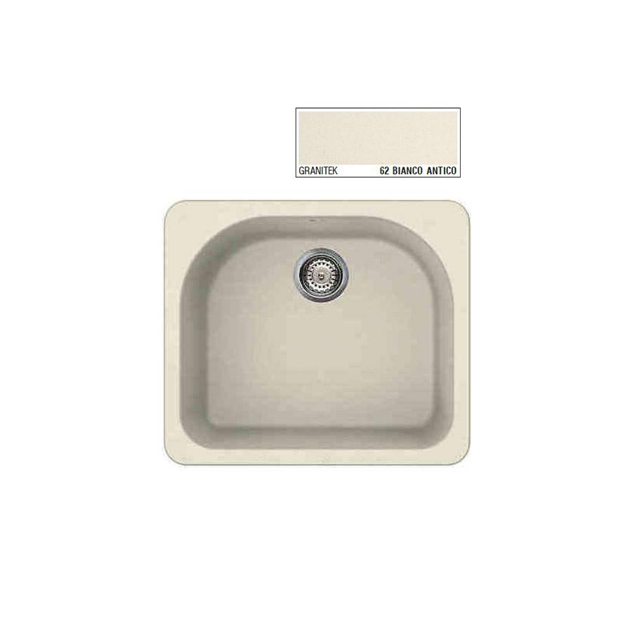 Νεροχύτης Γρανίτη ELLECI FOX 250 60x52 Granitek Bianco Antico