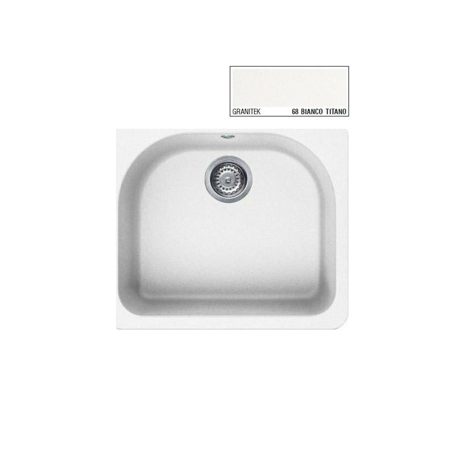 Νεροχύτης Γρανίτη ELLECI FOX 250 60x52 Granitek Bianco Titano