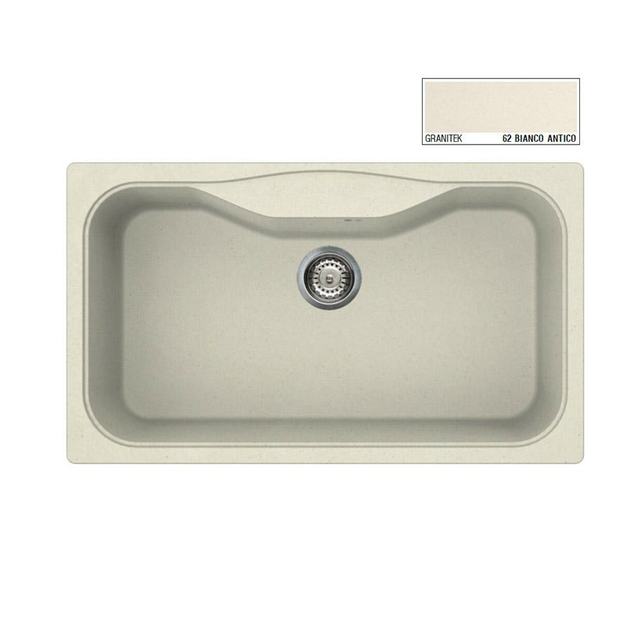 Νεροχύτης Γρανίτη ELLECI FOX 360 86x50 Granitek Bianco Antico