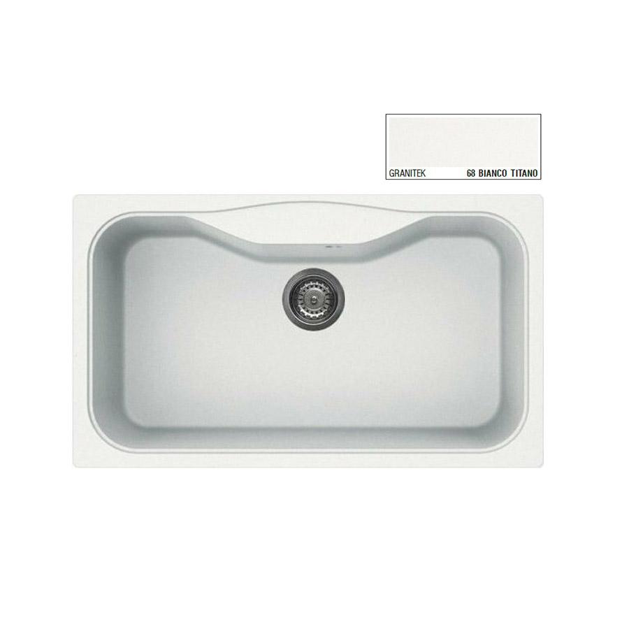 Νεροχύτης Γρανίτη ELLECI FOX 360 86x50 Granitek Bianco Titano