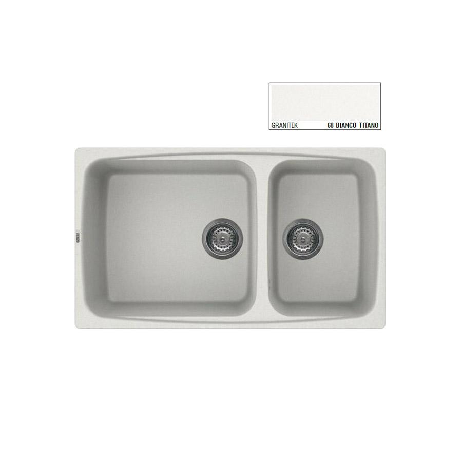 Νεροχύτης Γρανίτη ELLECI FOX 450 86x50 2B Granitek Bianco Titano