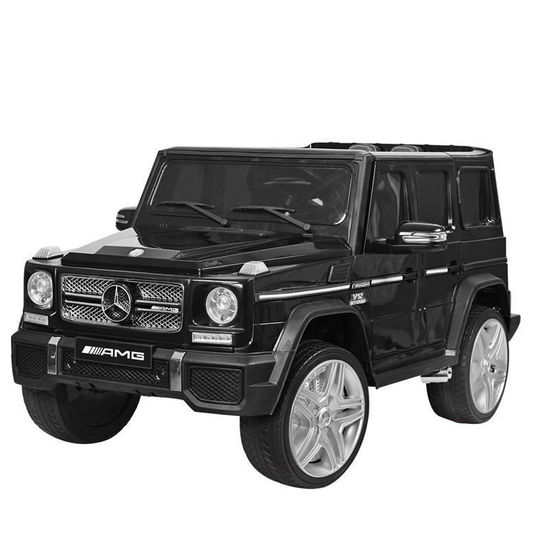 Ηλεκτροκίνητο παιδικό αυτοκίνητο Licenced Mercedes G65 AMG 12v με τηλεκοντρόλ Μαύρο
