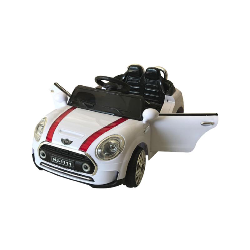Ηλεκτροκίνητο παιδικό αυτοκίνητο τύπου Mini Cooper Λευκο 12v με τηλ/ρολ & λειτουργία Relax HJ1111