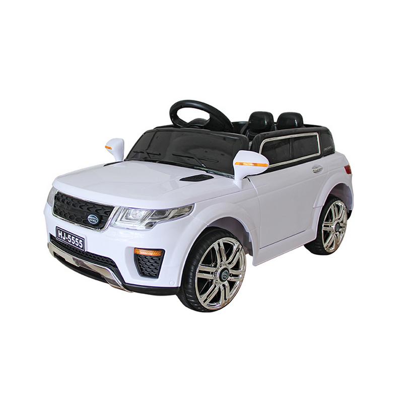 Ηλεκτροκίνητο παιδικό αυτοκίνητο τύπου Range Rover 12v Λευκο με τηλ/ρολ & λειτουργία Relax HJ5555