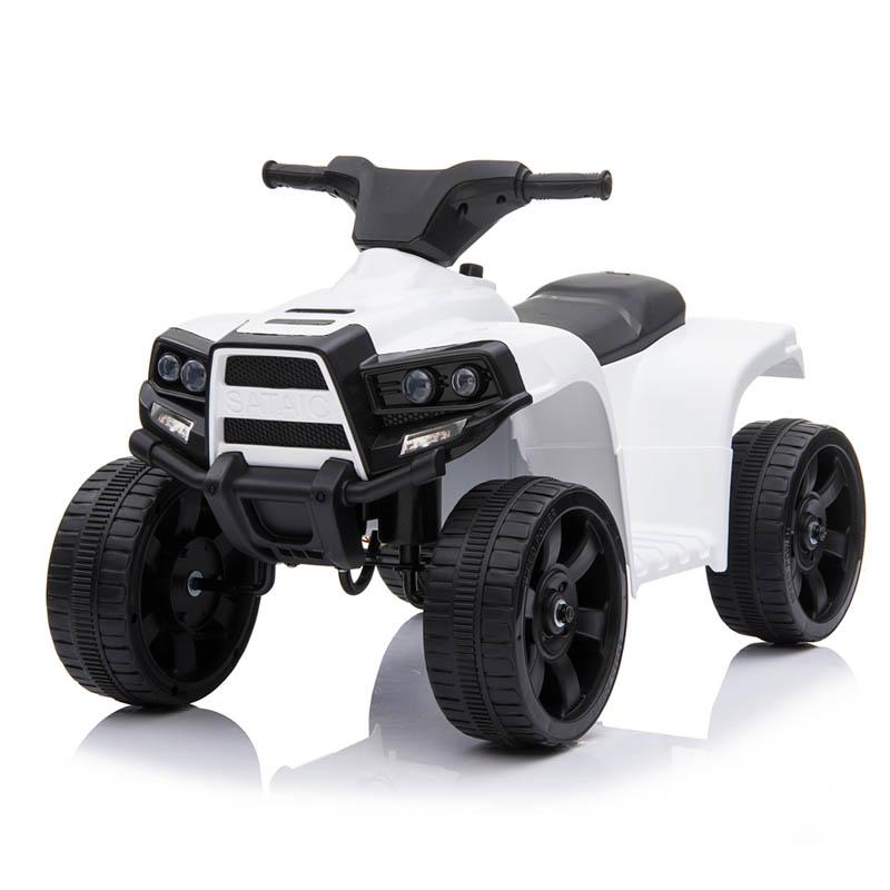 Ηλεκτροκίνητη παιδικη μοτοσυκλέτα / Γουρούνα 6V Λευκή JC-912