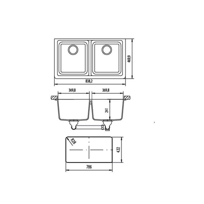 Νεροχύτης SCHOCK  N 200 U  σειρά MADISON